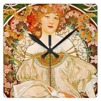 Horloge de Nouveau d'art de la Meuse de La de