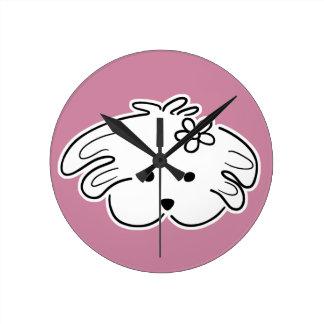 Horloge de paroi rosée, perrita, le monde de Lua