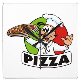 horloge de pizza