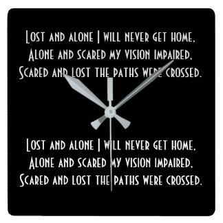 Horloge de poésie