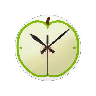 Horloge de pomme verte