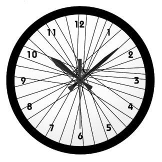 Horloge de roue de bicyclette avec des nombres