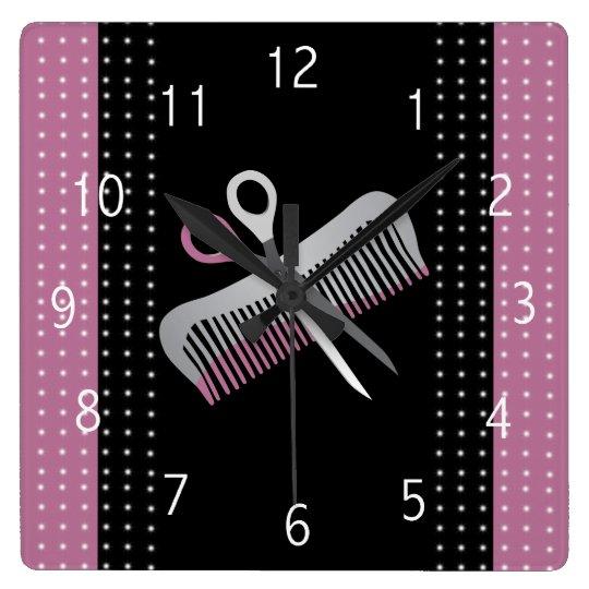 horloge de salon de coiffure. Black Bedroom Furniture Sets. Home Design Ideas