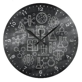 Horloge de tableau de la Science de chimie