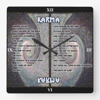 Horloge de tapisserie d'Oboros de karma