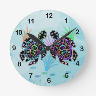 Horloge de tortue de mer de mosaïque