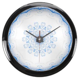 Horloge décorative bleue d'Aqua d'asile Horloge Marine