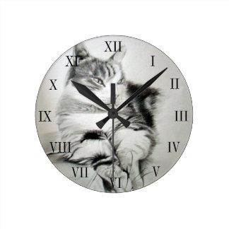 Horloge décorative chat