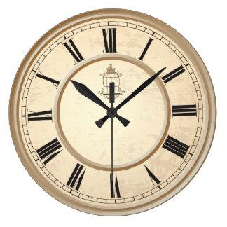 Horloge décorative de cage à oiseaux vintage