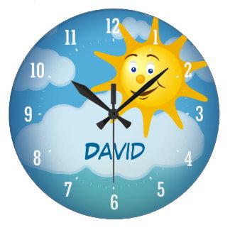 Horloge décorative de sourire de Sun |