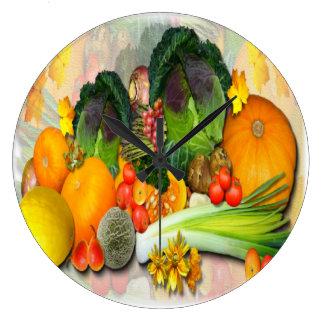 Horloge décorative de ~ végétal d'affichage