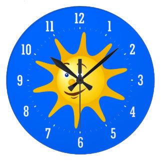 Horloge décorative du soleil de sourire