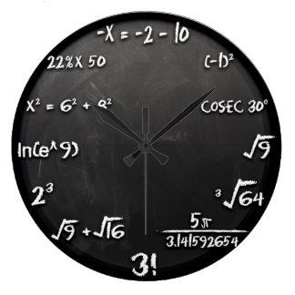 Horloge d'équation de maths (noir)