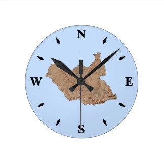 Horloge du sud de carte du Soudan