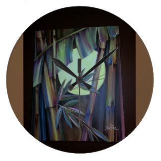 Horloge en bambou d'art