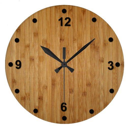 Horloge en bois en bambou de regard