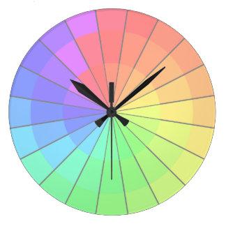 Horloge en pastel d'artistes de roue de couleur