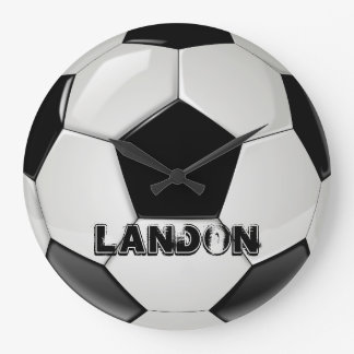 Horloge faite sur commande de ballon de football