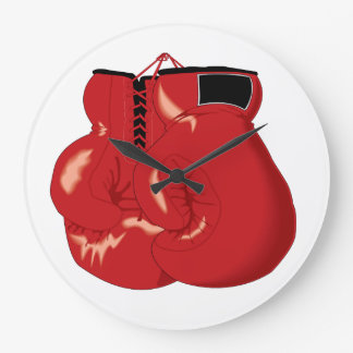Horloge fraîche de gants de boxe