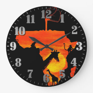 "Horloge grande rond «Pôr-do-sol """