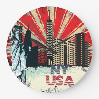 horloge grunge vintage de New York City Etats-Unis