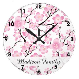 horloge japonaise de motif de ressort d'arbre de