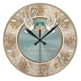 Horloge l'épousant PERSONNALISÉE magnifique avec