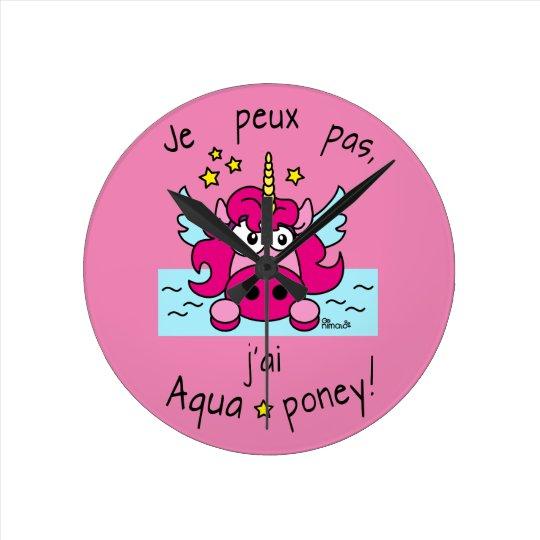 """Horloge """"Licorne, Aquaponey"""""""
