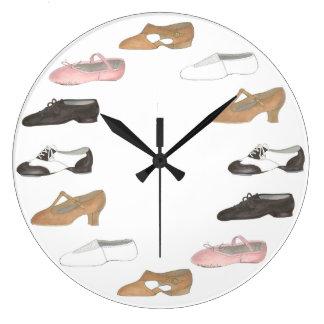 Horloge lyrique de studio de danse de chaussures