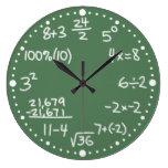 Horloge mathématique d'équations de maths avec des