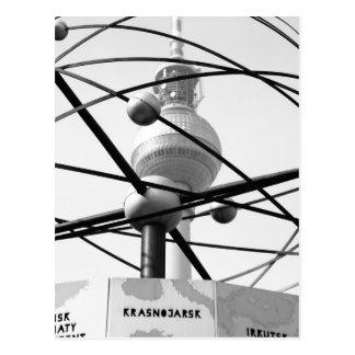 Horloge mondiale tour de télévision Berlin No.1 Carte Postale