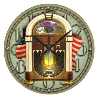 Horloge murale américaine vintage de juke-box