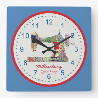 Horloge murale americana de machine à coudre de