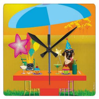 Horloge murale animale - partie pour deux