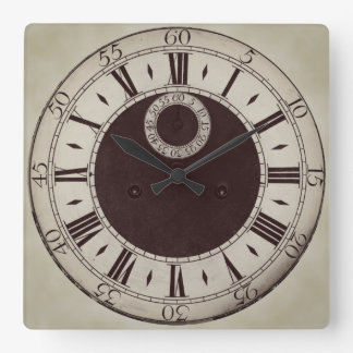 Horloge murale antique classique de chiffres