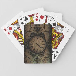 Horloge murale antique gothique vintage Steampunk Jeu De Cartes