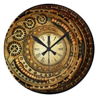 Horloge murale asymétrique de Steampunk