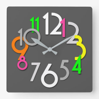 Horloge murale au néon colorée moderne