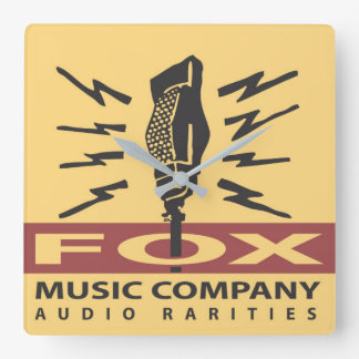 Horloge murale audio de raretés de Fox Music