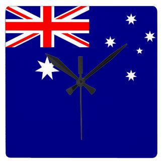 Horloge murale avec le drapeau de l'Australie