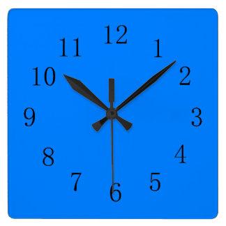 Horloge murale azurée de cuisine de bleu d'océan