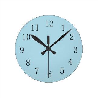 Horloge murale bleu-clair de cuisine