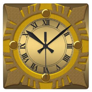 Horloge murale carrée décorative de cadre