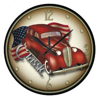 Horloge murale classique américaine de voiture