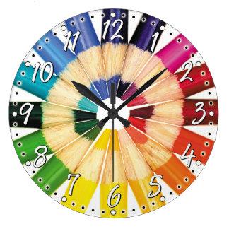 crayon couleur horloges crayon couleur horloges murales. Black Bedroom Furniture Sets. Home Design Ideas