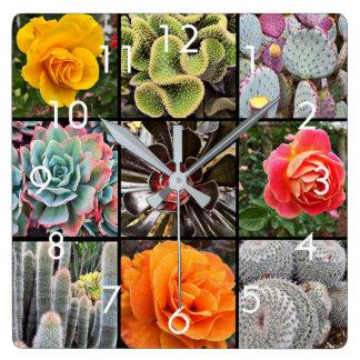 Horloge murale colorée de grille de photo de