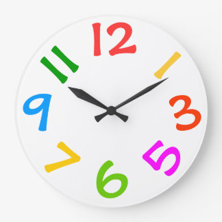 Horloge murale colorée de pièce d enfants