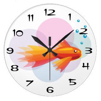 bocal poissons horloges bocal poissons horloges murales. Black Bedroom Furniture Sets. Home Design Ideas