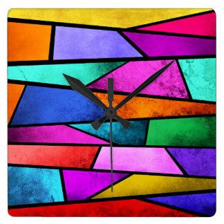 Horloge murale colorée de pourpre d'abrégé sur en