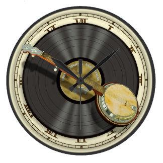 Horloge murale de banjo de Bluegrass